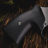 VZ Grips' VZ 320 Black G-10 Round-2-Square Conversion grips on a round bottom Smith & Wesson N-Frame revolvers, lifestyle photo