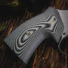 VZ Grips' VZ 320 Black Gray G-10 Round-2-Square Conversion Grips for round bottom Smith & Wesson N-Frame revolvers, lifestyle photo