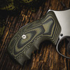 VZ Grips' Tactical Diamond Dirty Olive G-10 Grips on a round bottom Smith & Wesson N-Frame revolver, lifestyle photo