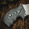 VZ Grips' Tactical Diamond Black Gray G-10 Grips on a round bottom Smith & Wesson N-Frame revolver, lifestyle photo