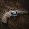 VZ Grips' Tactical Diamond Hyena Brown G-10 Round-2-Square Conversion Grips for Smith & Wesson K-Frame or L-Frame Revolvers, Lifestyle photo