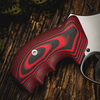 VZ Grips' VZ 320 Black Red G-10 Grips for Smith & Wesson K-Frame or L-Frame Revolvers, Lifestyle photo