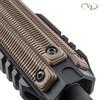 Three of VZ's Alien® 3-Slot M-LOK Rail Panels in Hyena Brown G-10