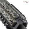 Three VZ Stipple 3-Slot M-LOK Rail Cover in Dirty Olive G-10