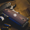 Larry Vickers Double Diamond 1911 Grips on a black Kimber 1911