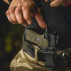 Reaching for VZ Grips' Wilson Combat X9 X-TAC Grip in Dirty Olive G-10 hero photo