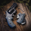 VZ Grips' Tactical Diamond and VZ 320 Black Gray G-10 Boot grips on a round bottom Smith & Wesson N-Frame revolvers, lifestyle photo