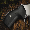 VZ Grips' Tactical Diamond Black G-10 Boot grips on a round bottom Smith & Wesson N-Frame revolvers, lifestyle photo