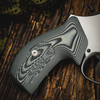 VZ Grips' Tactical Diamond Black Gray G-10 Boot grips on a round bottom Smith & Wesson N-Frame revolvers, lifestyle photo