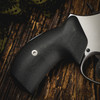 VZ Grips' VZ 320 Black G-10 Boot grips on a round bottom Smith & Wesson N-Frame revolvers, lifestyle photo