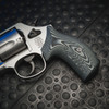 VZ Grips' Tactical Diamond Black Gray G-10 Boot Grips on a round bottom Smith & Wesson K-Frame or L-Frame Revolvers, Lifestyle photo