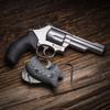 VZ Grips' VZ 320 Black and Black Gray G-10 Grips for Smith & Wesson K-Frame or L-Frame Revolvers, Lifestyle photo