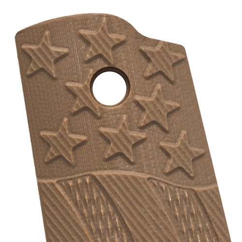 VZ's Stars and Stripes Military Brown G-10 1911 Grip Thumbnail