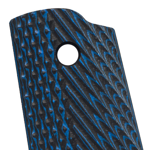 VZ Operator Blue Black G-10 1911 Grip Thumbnail