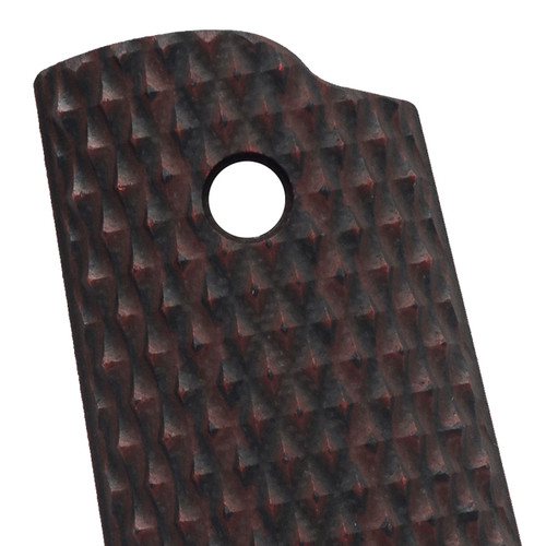 VZ Grips' Diamond Back Black Cherry G-10 1911 Grip Thumbnail.