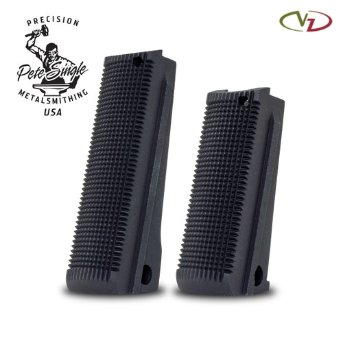 Mainspring Housing Anodized Black Checkered
