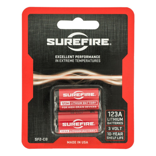 Surefire 123A Lithium Batteries - 2 Pack