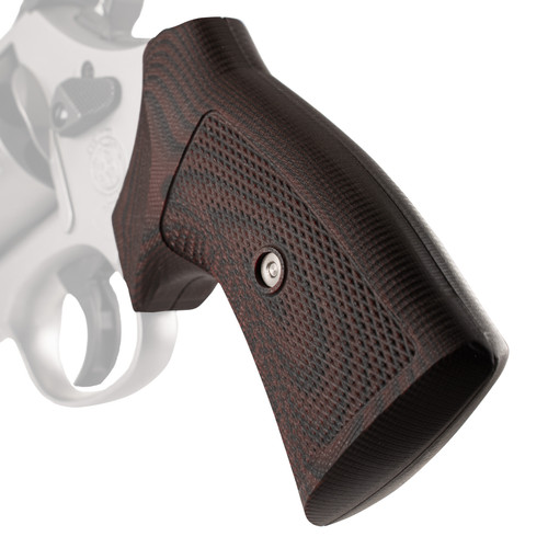 VZ Grips' Tactical Diamond G-10 Round-2-Square Conversion grips for round bottom Smith & Wesson N-Frame revolvers, hero photo