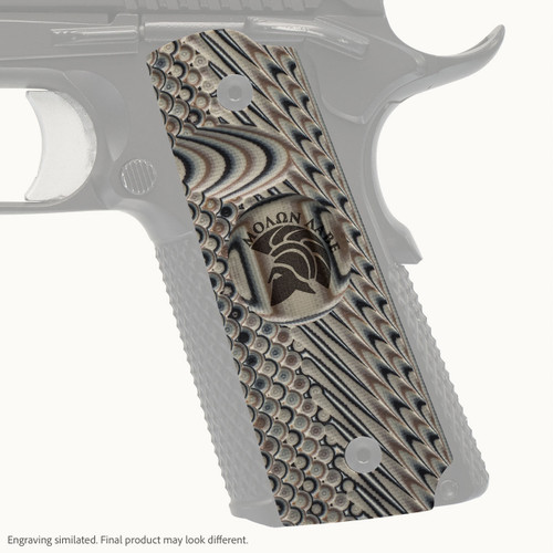 VZ Grip's Operator II™ full-size G-10 1911 grip with Molon Labe engraving