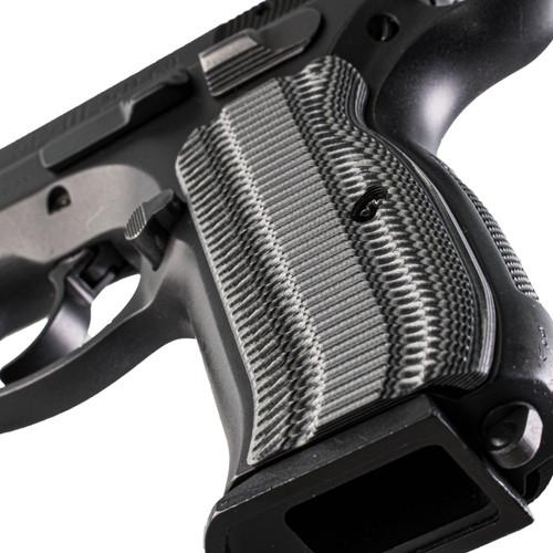 VZ Grips' Alien® CZ 75 Compact grips, hero photo