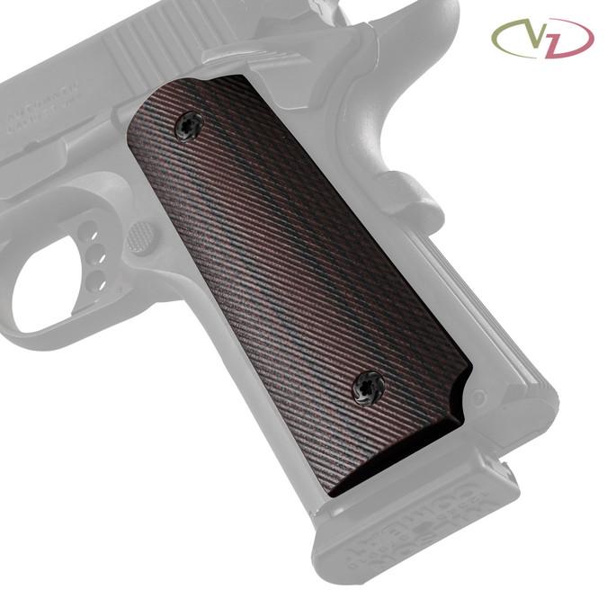 VZ 320 Black Cherry G-10 grips on a black Colt® 1911.