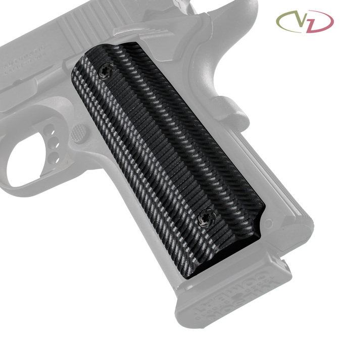 Alien® Black G-10 grips on a black Colt® 1911.