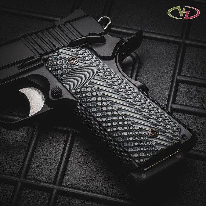 VZ Operator II™ Black Gray on a gun case.