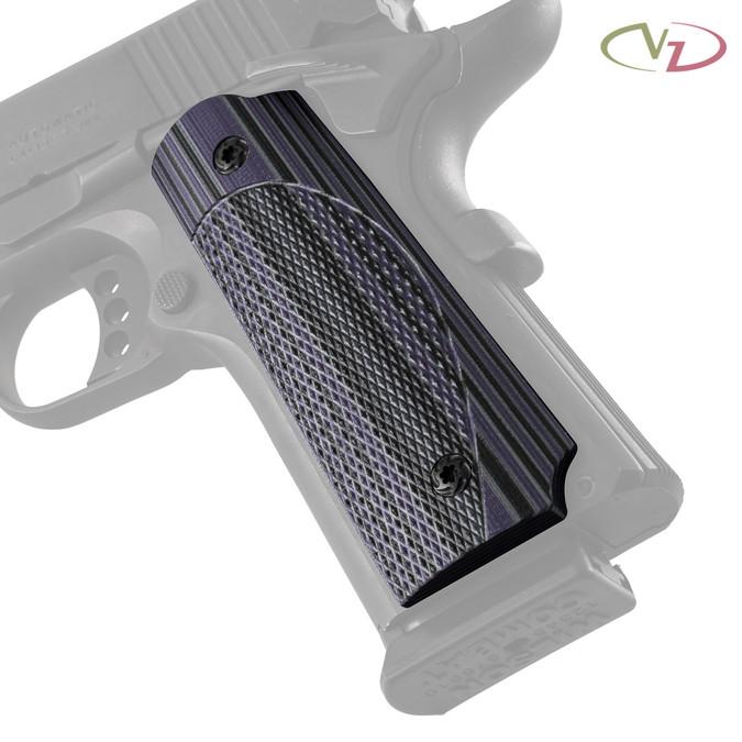 VZ's ETC (Elite Tactical Carry) Worple G-10 grips on a black Colt® 1911.