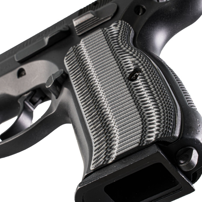 VZ Grips' Alien® G-10 CZ 75 grips, hero photo