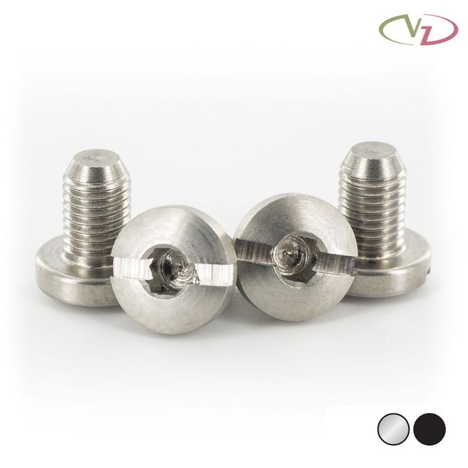 VZ Grips' Slex 1911 grip screws in stainless finish.