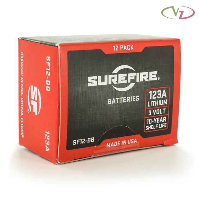 Surefire 123A Lithium Batteries - 12 Pack Box