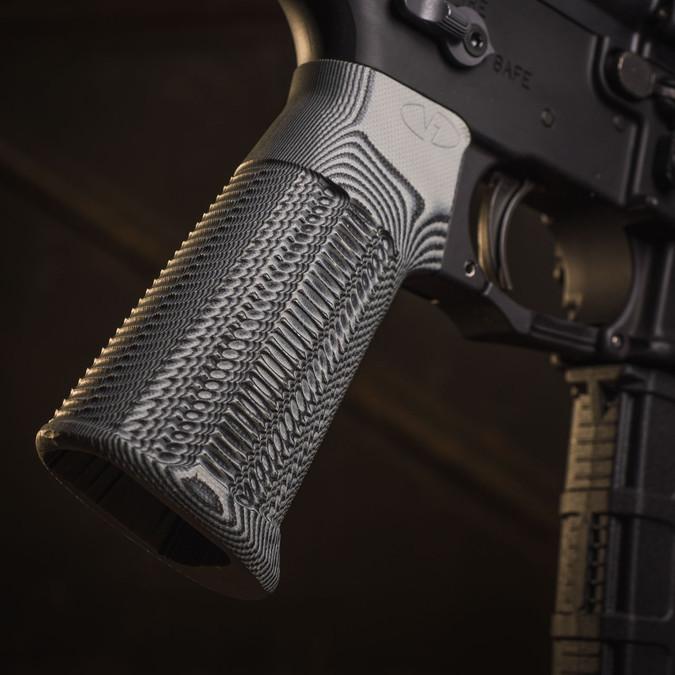 AR-15 Rifle Grip Alien® in Black Gray G10 Hero Shot