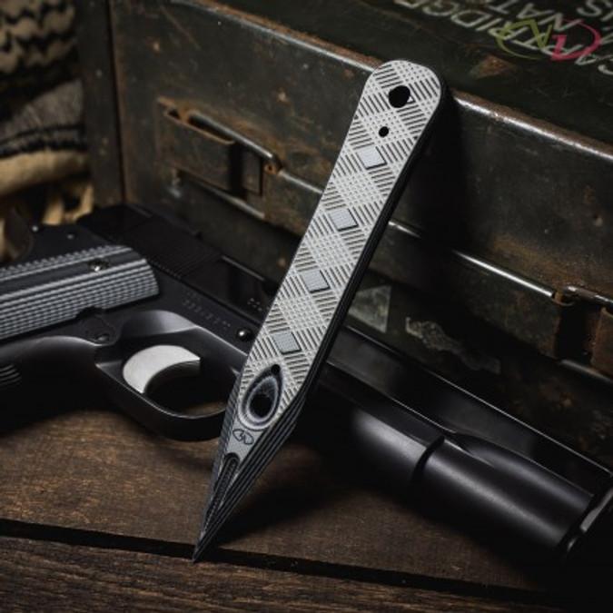 VZ Discrete Black Gray G-10 Dagger lifestyle photo