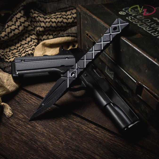 VZ Don Black Gray G-10 Dagger lifestyle photo