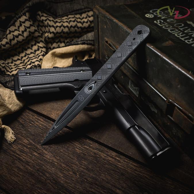 VZ Executive Black Gray G-10 Dagger lifestyle photo