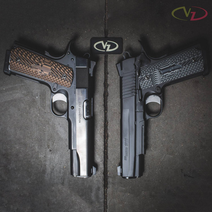 A pair of 1911s with VZ's Castle grips on them