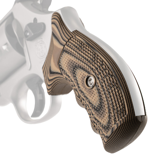 VZ Grips' Tactical Diamond G-10 Grips for round bottom Smith & Wesson N-Frame revolver, hero photo
