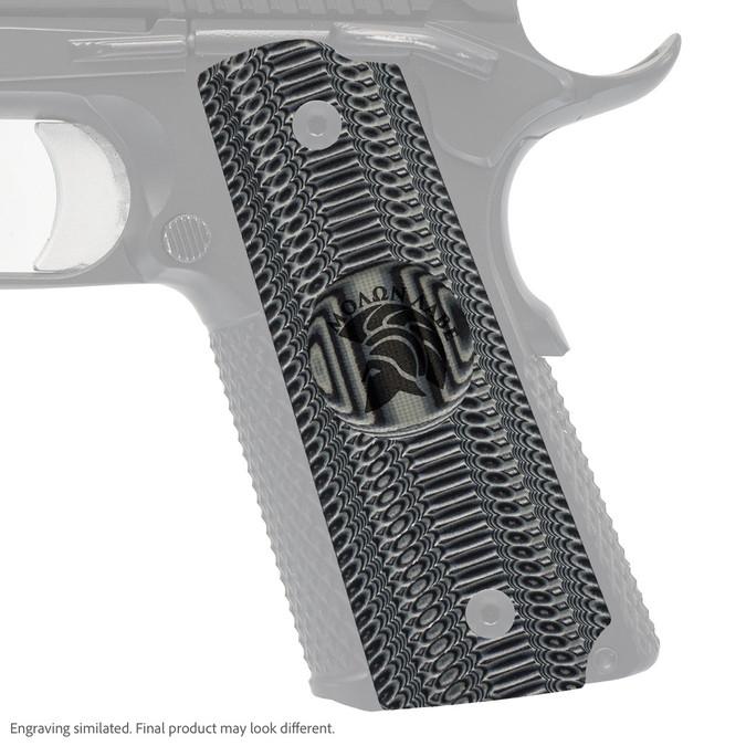 VZ Grip's Alien® compact G-10 1911 grip with Molon Labe engraving