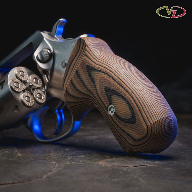 VZ 320 Hyena Brown G-10 grips for a Ruger SP101