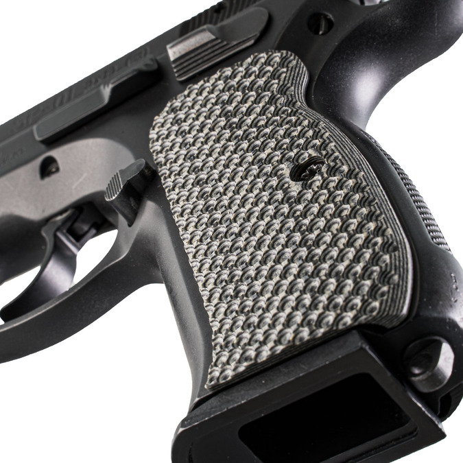 VZ Grips' VZ Recon CZ 75 Compact grips, hero photo