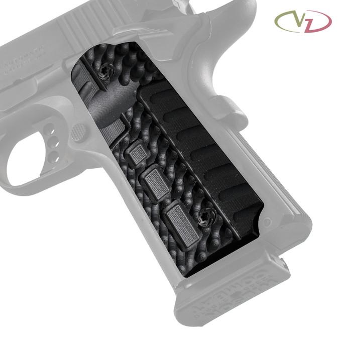 VZ Fallout Black G-10 grips on a black Colt® 1911.