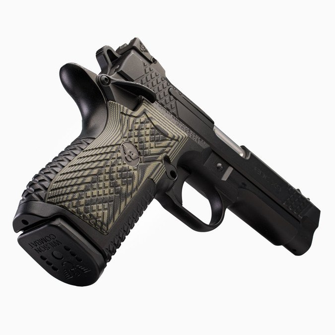 VZ Grips' Wilson Combat X9 X-TAC Grips in Dirty Olive G-10