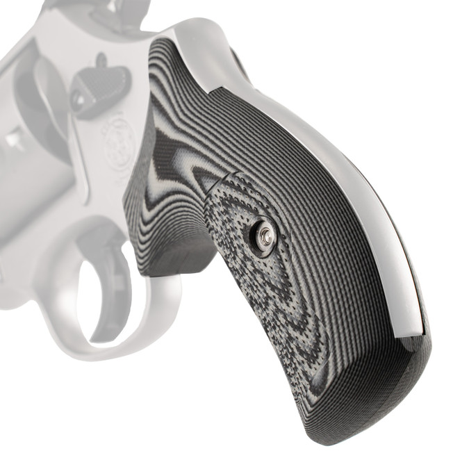 VZ Grips' Tactical Diamond G-10 Boot grips for round bottom Smith & Wesson N-Frame revolvers, hero photo