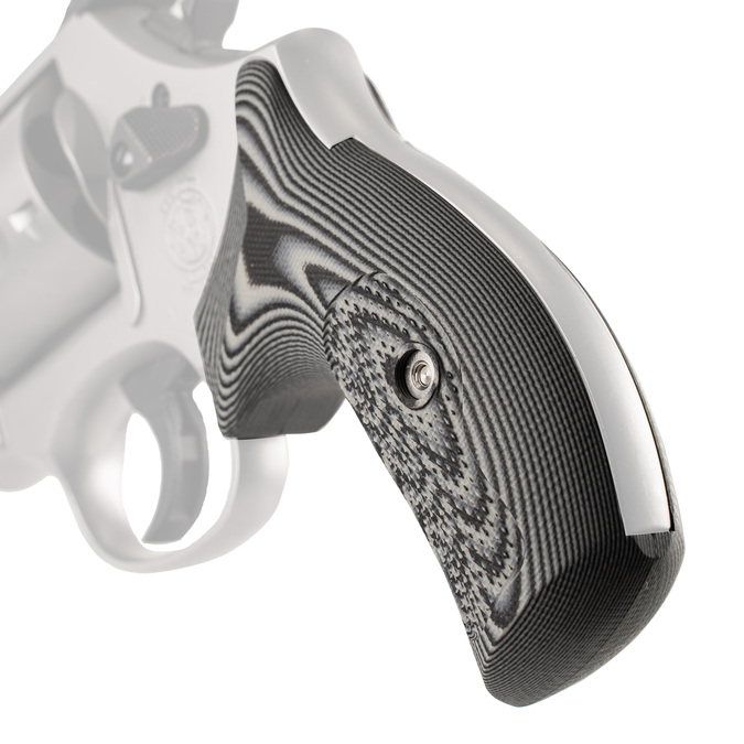 VZ Grips' Tactical Diamond G-10 Boot Grips for round bottom Smith & Wesson K-Frame or L-Frame Revolvers, Hero photo