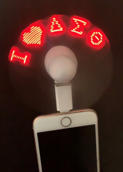 DELTA LED MESSAGE FAN FOR PHONE