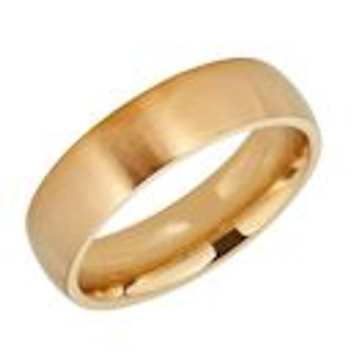Gold plated stainless steel with matte finish comfort fit band ring