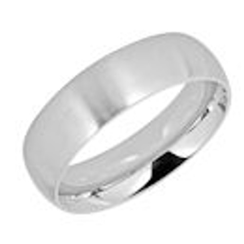 Stainless steel brushed finish comfort fit band ring