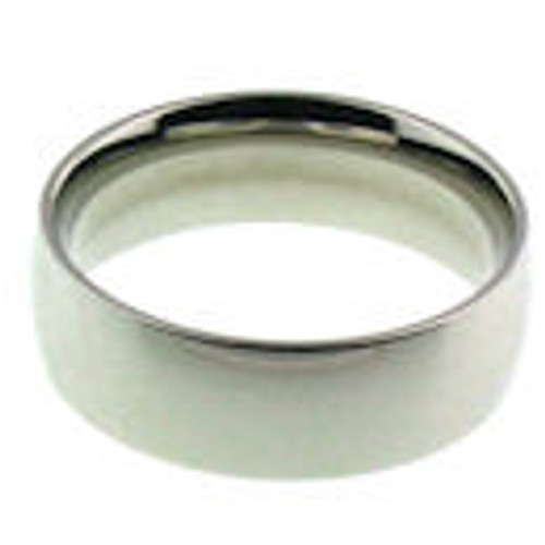 Stainless steel shiny finish comfort fit band ring
