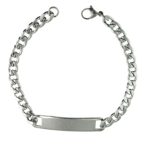 "Custom Stainless Steel Bracelet- 7.5"" Long"