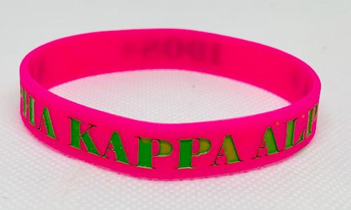 Silicone Bracelet-Alpha Kappa Alpha